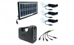 Kit Solar KL-8017A, Negru, 3 becuri