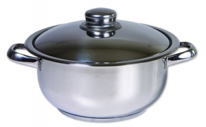 Oala inox cu capac ZLN-7284, Cocinera,diametru 30 cm, capacitate 12 L, la 99 RON in loc de 179 RON