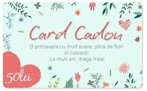 CARD CADOU in valoare de 50 RON, CARDURI CADOU