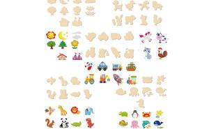 Set Montessori Sabloane desen, 56 piese, Jocuri, jucarii si joaca