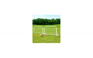 Set 2 porti de fotbal, cu o minge si o pompa de umflat, pentru exterior