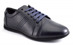 Pantofi Sport Barbatesti bleumarin inchis - 3 cusaturi