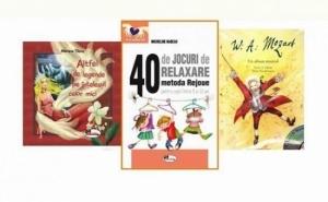 """Pachet carti distractive pentru copii: """"Mozart - un album muzical'' , """"Altfel de legende pe intelesul celor mici'' si """" 40 de jocuri de relaxare'', la doar 35 RON in loc de 58 RON"""