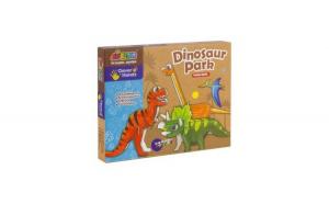 Set de creatie Momki - Parcul dinozaurilor