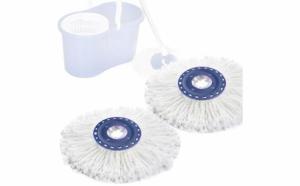 Set 10 rezerve de mop rotativ fara pedala cu absorbtie puternica - inlatura mizeria, praful, firele de par si petele