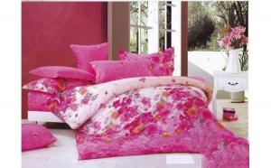 Lenjerie pat 2 persoane din Bumbac 100% - multicolor 1901 (4 piese) la doar 159 RON