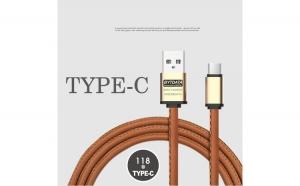 Cablu date si incarcare piele eco (type C)