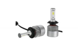 Bec led H4 Lunga + Scurta (set 2 bucati), Ventilator Cip, Putere 8000 LM pe bec, Ultraluminos