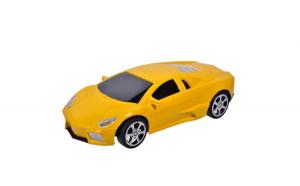 Masinuta sport de jucarie. model lamborgini galben. 17x6 cm