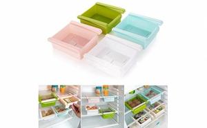 Set doua cutii depozitare frigider + Cadou Bile prospetime pentru organizare si miros placut