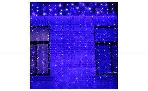 Instalatie perdea LED 3m x 2m albastru 336 LED