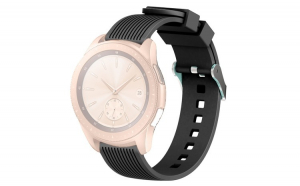 Curea Silicon Premium MTP Black 20mm Quick Release pentru Samsung Smartwatch
