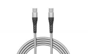 Cablu de date - Type-C - Type-C, alb - 2
