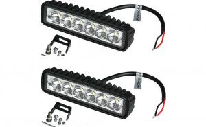 Proiectoare LED auto offroad, 2 bucati 18W