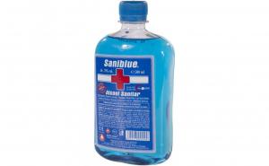 Alcool sanitar Saniblue 70% Biocid avizat MS - 500ml Black Friday Romania 2017