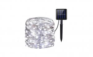 Lampa solara exterioara,10m Alb rece 200 LED LED-uri