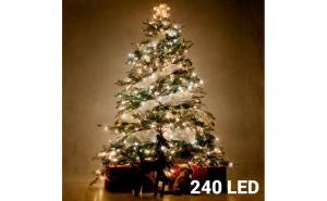Lumini de Craciun Albe (240 LED), la 99 RON in loc de 216 RON