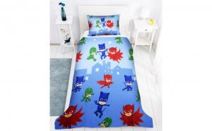 Lenjerie de pat copii Eroii in Pijama, Dimensiune 160 x 200, Bumbac