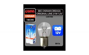 Bec Original Line 12V - P21W - 21W Frana, semnaliz, ceata BA15s 1buc Osram