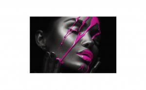 Tablou Canvas Neon, 95 x 125 cm, rama de lemn ascunsa, margini printate