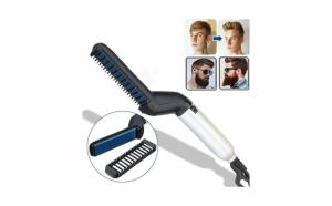 Placa de indreptat parul si barba Modelling Comb, 10 W, incalzire rapida