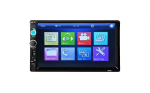 "Mp5 player auto 7010b, mirrorlink 2 Din, Touchscreen 7"" Bluetooth, USB auxiliar, sd card"