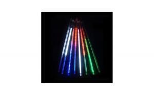 Turturi luminosi, 8 bucati cu 160 led-uri, efect fulg de nea, multicolor, interconectabil