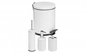 Set accesorii pentru baie 4 piese alb
