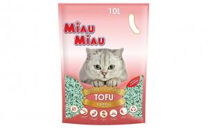 Nisip pisici MIAU MIAU Tofu FRESH 10L