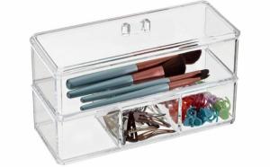 Mini organizator cosmetice si bijuterii cu 2 sertare
