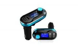 Modulator FM - Car Kit Bluetooth si MP3 BG02, incarcator auto, cu doua porturi USB si transmitator cu telecomanda