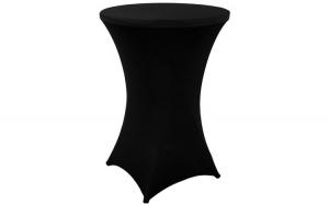 Husa masa evenimente, Relaxdays, husa elastica, rotunda, fata de masa pentru cocktail si catering, d 60-70 cm, h 120 cm, negru