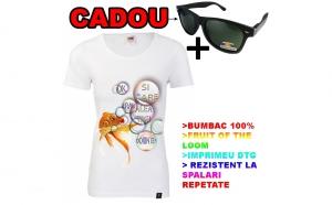 Tricou dama PESTISORUL DE AUR+ ochelari de soare polarizati CADOU