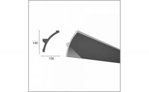 Profil pentru banda LED din poliuretan KF708 (2.44m)