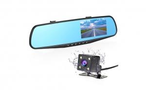 Oglinda retrovizoare cu camera fata-spate, ecran 4,3 inch, night vision