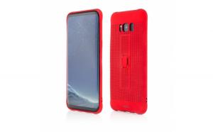 Husa de protectie Vetter Samsung Galaxy S8 Plus G955 Vetter GO Vent Soft with Strap Rosu