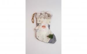 Cizmulita decorativa Mos Craciun, 50 cm