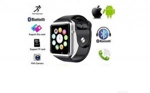 Ceas Smartwatch 2 in 1 A1 - meniu limba romana, Bluetooth, touchscreen, facebook, whatsapp
