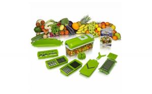 Razatoare Feliator legume Multifuncional 11 moduri taiere 9 piese Nicer Dicer