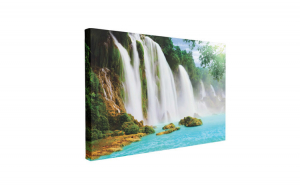 Tablou Canvas Detian Waterfall, 60 x 90 cm, 100% Poliester