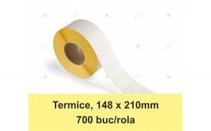 Etichete in rola, termice 148 x 210 mm,