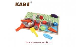 Mini bucatarie 2 in 1 lemn Kabi