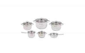 Set oale - 12 piese Grunberg, capac, argintiu + set cutite 3 piese cadou