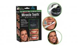 Set 2 cutii pudra organica pentru albirea dintilor, Miracle Teeth
