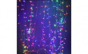Instalatie tip perdea de lumini 336 led-uri 3 mx2 m multicolor