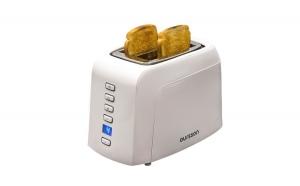 Prajitor de paine Oursson TO2145D/IV, grad de rumenire ajustabil, centrare automata a feliilor de paine, panou de control digital, 800 W, Alb