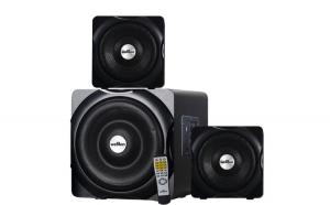 Sistem Audio 2.1, Welllon 60X - Subwoofer + 2 Sateliti, 35W RMS, cu USB, Bluetooth si AUX, Negru