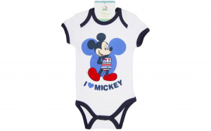 Body bebelusi , Mickey Mouse, alb, baieti, 60 cm