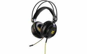 Casti gaming, Microfon, Conectare Jack 3.5mm, Difuzor 50mm, Negru/Galben