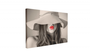 Tablou Canvas Red Lips, 70 x 100 cm, 100% Bumbac